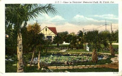 Veterans' Memorial Park - St Cloud, Florida FL Postcard