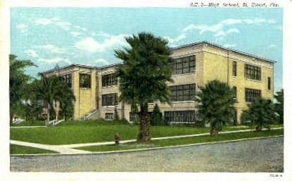 High School - St Cloud, Florida FL Postcard