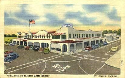 Hunter Arms Hotel - St Cloud, Florida FL Postcard