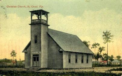 Christian Church - St Cloud, Florida FL Postcard