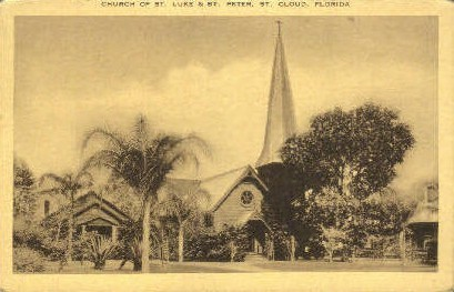 Church of St. Luke and St. Peter - St Cloud, Florida FL Postcard