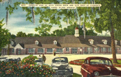 Main Dining Room and Gift Shop - Silver Springs, Florida FL Postcard