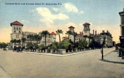 Cordova Hotel - St Augustine, Florida FL Postcard
