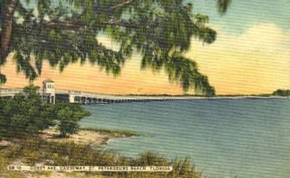 Corey Avenue - St Petersburg, Florida FL Postcard