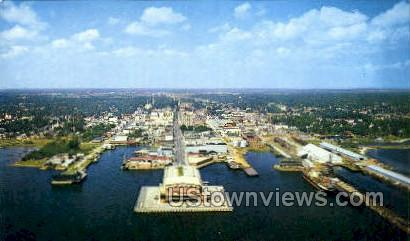 Air view - Pensacola, Florida FL Postcard