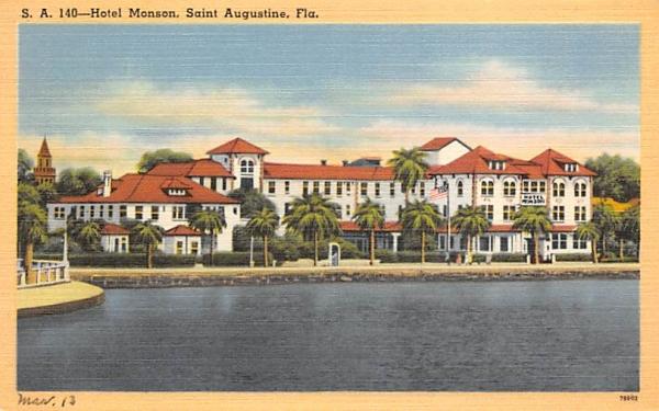 Hotel Monson  Saint Augustine, Florida Postcard