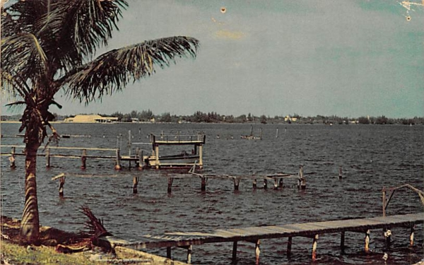 Wide and wonderful, The St. Lucie River St Lucie River, Florida Postcard