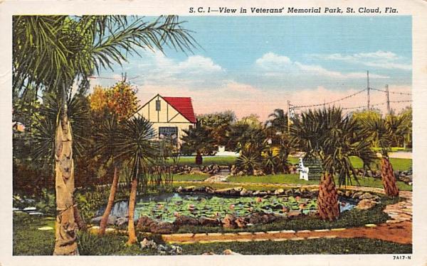 View in Veterans' Memorial Park St Cloud, Florida Postcard