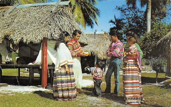 Florida (Seminile) Indians Postcard