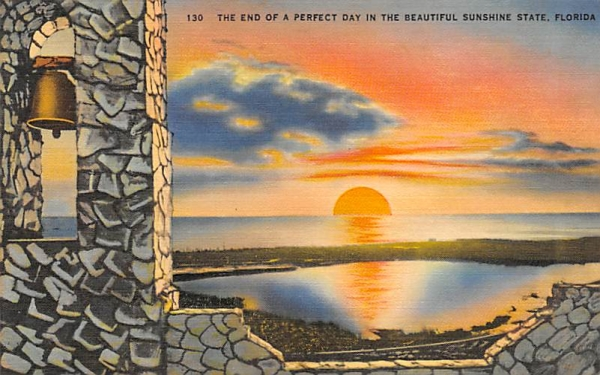 Beautiful Sunshine State, FL, USA Sunset, Florida Postcard