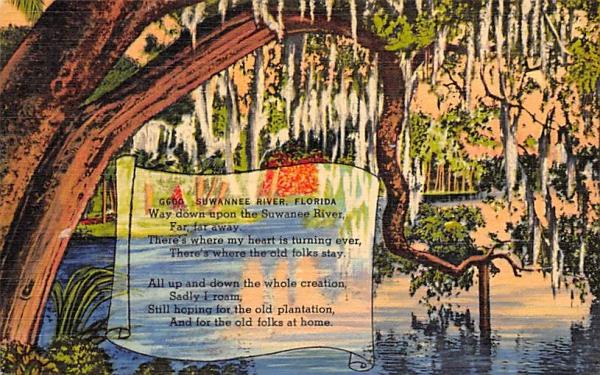 Suwannee River, FL, USA Florida Postcard