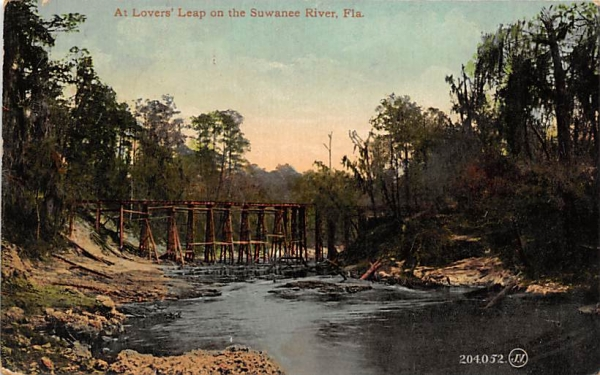 At Lovers' Leap on the Suwannee River, FL, USA Florida Postcard
