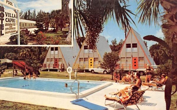 Villa Capri Notel Sanibel Island, Florida Postcard