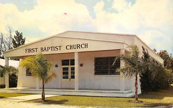 First Baptist Church Samoset, Florida Postcard