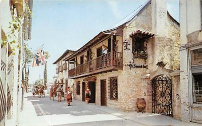 The Old Spanish Inn St Augustine, Florida Postcard
