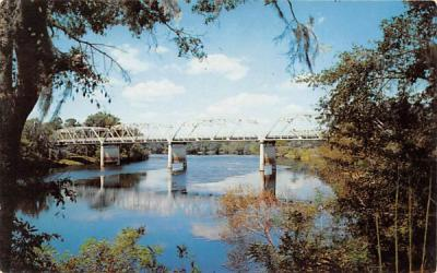 beautiful bridges over the Suwannee River Florida Postcard