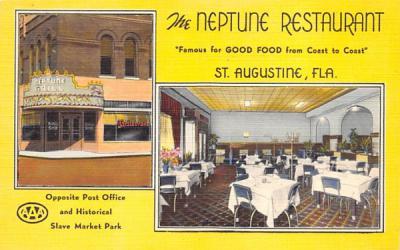 The Neptune Restaurant St Augustine, Florida Postcard