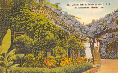 The Oldest School House in the U. S. A. St Augustine, Florida Postcard