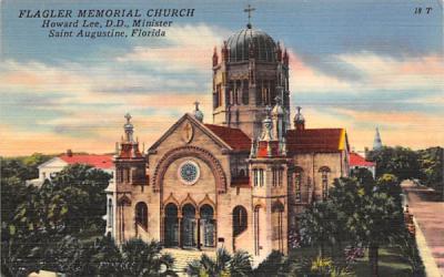 Flagler Memorial Church Saint Augustine, Florida Postcard