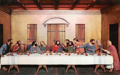 The Last Supper Silver Springs, Florida Postcard