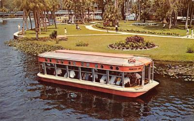 A new Glass-Bottom Boat Silver Springs, Florida Postcard