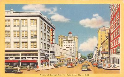 A View of Central Ave. St Petersburg, Florida Postcard
