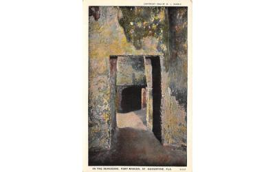 In the Dungeons, Fort Marion St Augustine, Florida Postcard