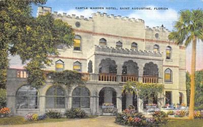 Castle Warden Hotel Saint Augustine, Florida Postcard