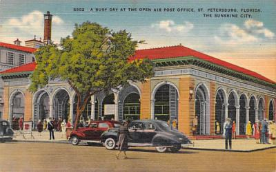 A Busy Day at the Open Air Post Office St Petersburg, Florida Postcard