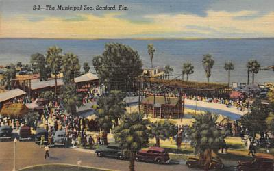 The Municipal Zoo Sanford, Florida Postcard