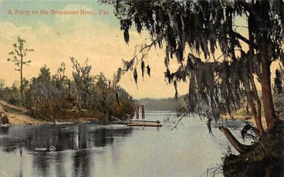 A Ferry on the Suwannee River Florida Postcard