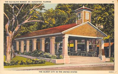 The Old Slave Market St Augustine, Florida Postcard