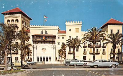 The New St. John's County Court House St Augustine, Florida Postcard