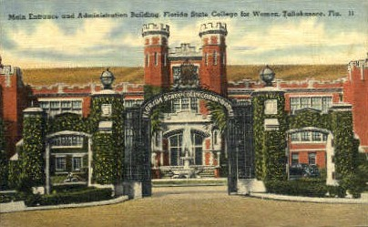 Florida State College for Women - Tallahassee Postcard