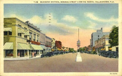 Business Section - Tallahassee, Florida FL Postcard