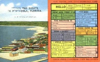 Naval Air Station - Pensacola, Florida FL Postcard