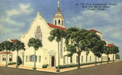First Presbyterian Church - Tampa, Florida FL Postcard