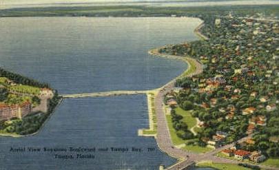 Aerial View - Tampa, Florida FL Postcard