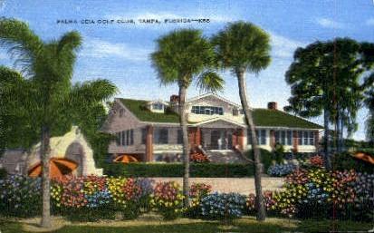 Palma Ceia Golf Club - Tampa, Florida FL Postcard