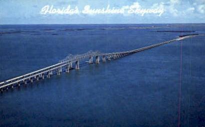 Sunshine Skyway - Tampa, Florida FL Postcard