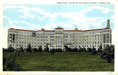 Municipal Hospital - Tampa, Florida FL Postcard