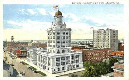 Bay View Hotel - Tampa, Florida FL Postcard