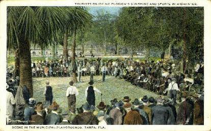 Playgrounds - Tampa, Florida FL Postcard