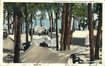 De Soto Park - Tampa, Florida FL Postcard