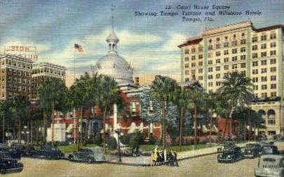 Court Square - Tampa, Florida FL Postcard
