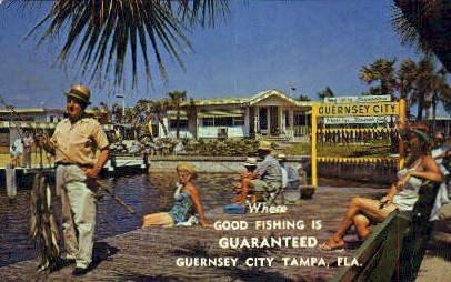 Guernsey City - Tampa, Florida FL Postcard