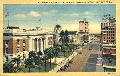 Florida Avenue - Tampa Postcard