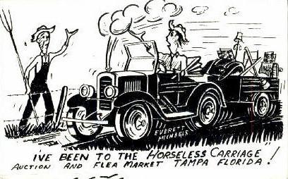 Car Auction and Flea Market - Tampa, Florida FL Postcard