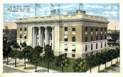 Post Office - Tampa, Florida FL Postcard