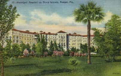 Municipal Hospital - Tampa, Florida FL Postcard